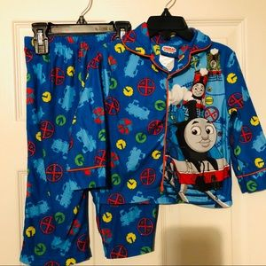 Thomas the train 2 piece blue pajama set size 2t